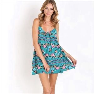 Show Me Your MuMu Trapeze Floral Mini Dress A6